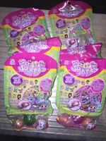 Pink Bag Squinkies Lot Of 20 Sealed Packs: 60 Squinkies Stickers And More...