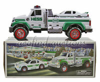 2011 HESS Gasoline Gas & Motor Oil Battery Operated Truck Race Car New Old Stock