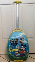 """Disney by Heys Mickey Mouse Clubhouse Big Air Rolling 18"""" Hard Sided Suitcase"""