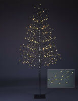 Outdoor Silver Christmas Tree 7' Tall LED Light Decoration Patio Deck Lighting