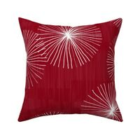 Christmas Snowflake Mid Century Throw Pillow Cover w Optional Insert by Roostery