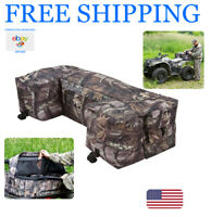 ATV Rear Cargo Bag Storage Padded Seat Rack Secure Separate Zippers Cushion Box