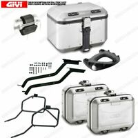 Set GIVI Bauletto DLM46A & Suitcases DLM30A Motorcycle Moto Guzzi V7 III Stone