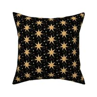 Gold Stars Christmas Festive Throw Pillow Cover w Optional Insert by Roostery