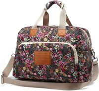 Floral Lady Canvas Overnight Bag Women Weekender Bag Carry On Travel Duffel Bag
