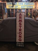 "Armstrong Tires Sign Cole's Express Bangor maine 18""x 6feet Gas Oil Garage"