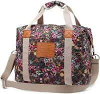 Canvas Travel Weekender Overnight Carry-on Shoulder Duffel Tote Bag for Women