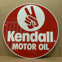 Kendall Motor Oil Sign Gas Station Garage Wall Decor Double Sided Tools NOS
