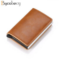 Credit Card Holder Wallet Men Women Metal RFID Vintage Aluminium Bag