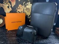 LOUIS VUITTON Taiga Leather Rolling Luggage Suitcase Travel Bag Set 22