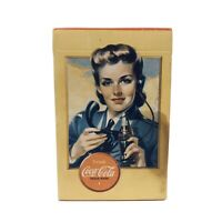 MIB 1940s WWII Era Coca Cola Airplane Spotter Playing Cards Yellow