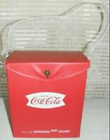 COCA COLA COOLER VTG 1960'S VINYL FISHTAIL LOGO  VERY GOOD CONDITION!