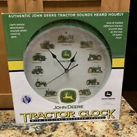 John Deere Tractor Clock w/Original Recorded Sounds Heard Hourly New in Box NIB