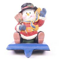 Heritage Mint Snowman Cast Iron Christmas Holiday Stocking Holder