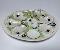 Antique OYSTER PLATE UNION PORCELAIN WORKS GREENPOINT NY Marked 19th Century #2