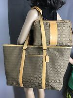 Coach Signature Weekender Bag Travel Luggage And Toiletry Cosmetic Bag F77012