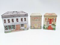 Lot of 3 England Advertising Tins Seed House Collection Nestle Toll House