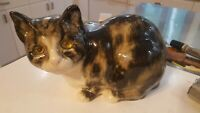 RARE Jenny Winstanley England Cat Glass Eyes Hand Painted #40 for saks porcelain