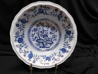 Coventry Blue Onion Kensington Ironstone Staffordshire Round Serving Bowl