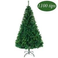 Artificial 7Ft PVC Christmas Tree w/Stand Indoor/Outdoor Holiday Season Green