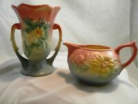 Lot-2 Vintage Hull Pottery Wildflower W-3 5 1/2