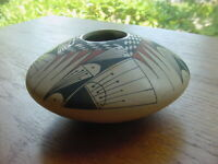 FINE DETAILES SOUTHWEST PUEBLO INDIAN CASA GRANDE POTTERY BOWL