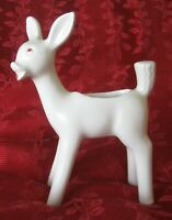 Vintage Shawnee Pottery Satin Ivory Ceramic Deer/Fawn Cactus Planter Large 9