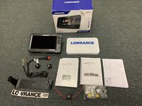 Slightly Used LOWRANCE CARBON HDS-9 FISHFINDER WITH Never Used Parts And Manuals