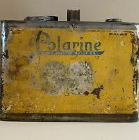 Vintage Early Rare Polarine 1/2 Gal Oil Can! Nice example of early Polarine Can!