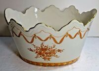 shlf ITALIAN PORCELAIN LARGE MONTEITH STYLE OVAL BOWL Italy 10quot; WIDE amp; 6quot; HIGH