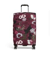 NWT Vera Bradley 27quot; Iconic Large Rolling Spinner Luggage Bordeaux Meadows New