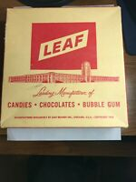 Vintage Empty Candy Box LEAF Red amp; Black Jaw Breakers