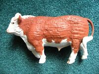 Early Boehm Hereford Bull Figurine 1950 Porcelain Figure Champion Cattle Cow
