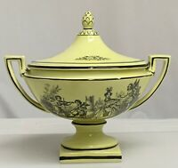 Vintage Mottahedeh Yellow Creil Covered Tureen 80176