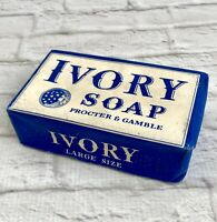 Vintage Ivory Soap Bar Original WWII 1940 Large Made In USA Display Advertising