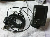 Lowrance Mark 4 Fishfinder GPS Chartplotter with Transducer power cord amp; Mount