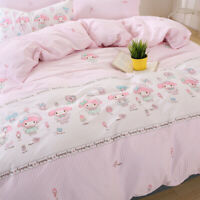 My Melody Pink Bed Set 3 4 PCS Set Bed Covers Pillowcase Bedroom Cotton In Stock
