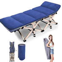 Outdoor Portable Folding Bed Cot Military Hiking Camping Sleeping Bed amp; Mattress
