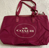 Coach Carriage Berry Pink Travel Packable F32812 New Weekends