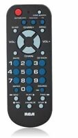 RCA Universal Remote Control for TV VCR DVD amp; Cable in Black $7.95