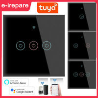 TUYA WiFi Smart Touch Switch Home Wall Lamp Glass Panel Button For Alexa Google $17.69