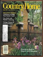 Country Home Magazine April 1991 Historic New Harmony Home Decorating $10.00
