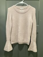 madewell xs pale pink with bell cuffs so pretty