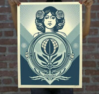 """OBEY """"Protect Biodiversity Cultivate Harmony"""" Screen print Signed Numbered 500 $200.00"""