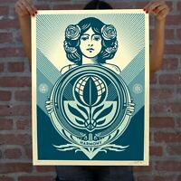 """OBEY """"Protect Biodiversity Cultivate Harmony"""" Screen print Signed Numbered $179.99"""