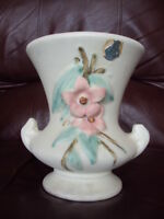 Vintage McCoy Blossomtime 7quot; Tall Vase With org.sticker