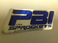 PBI Sprockets DECAL STICKER MOTORCYCLE ATV QUAD TRAILER DRAGBIKE MOTOCROSS