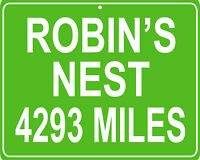 Magnum P.I. TV Show Robin#x27;s nest custom mileage sign distance to your house $24.95