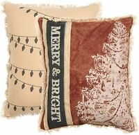 MERRY & BRIGHT Christmas Throw Pillow, 10