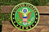 United States Army Embossed Tin Metal Sign - U.S. - Strong - This We'll Defend